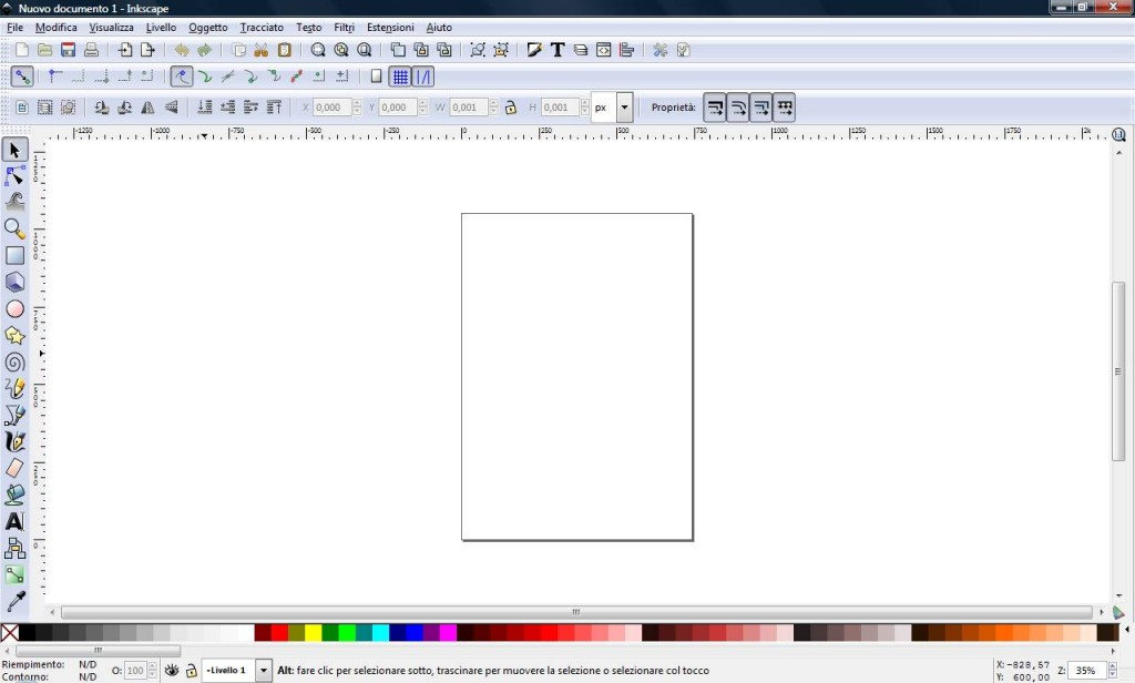 interfaccia inkscape
