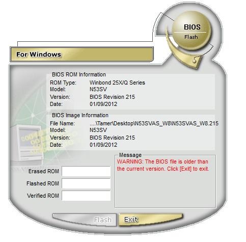 Problema di avvio su Asus N56VM bios non riconosciuto